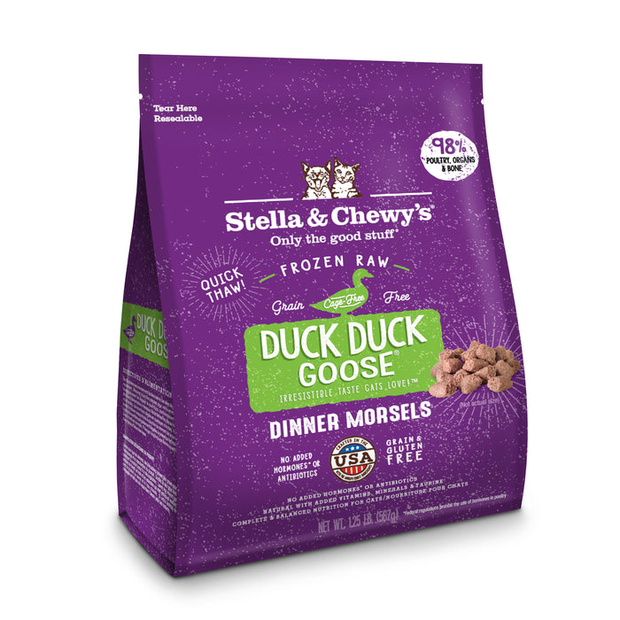 Stella & Chewy's Cat Frozen Raw Food Dinner Morsels Duck, Duck, Goose