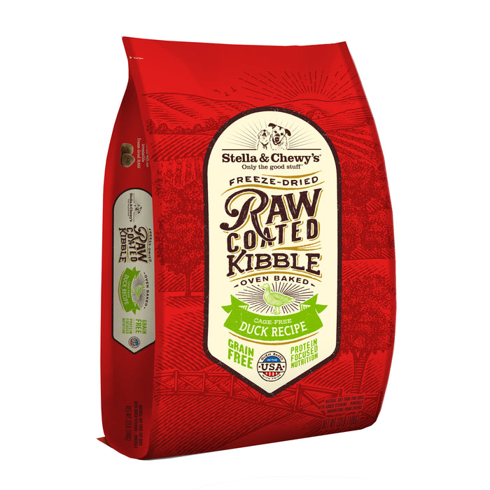 Stella & Chewy's Raw Coated Grain Free Dog Dry Food Cage-Free Duck
