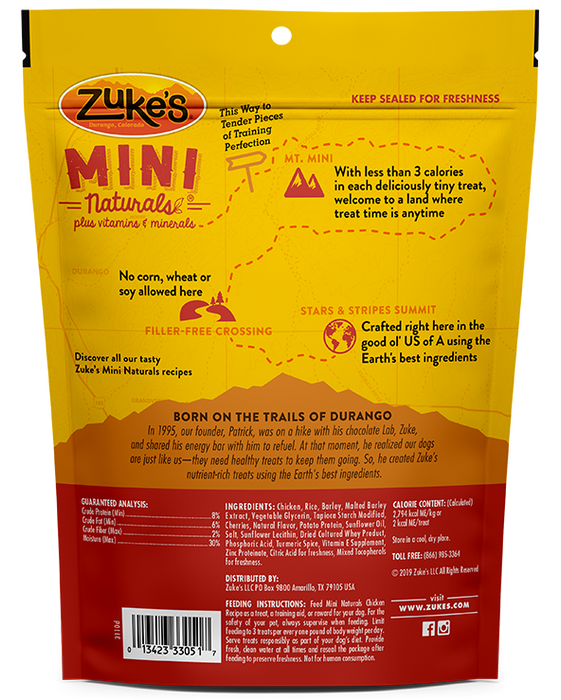 Zuke's Mini Natural Dog Treats Roasted Chicken