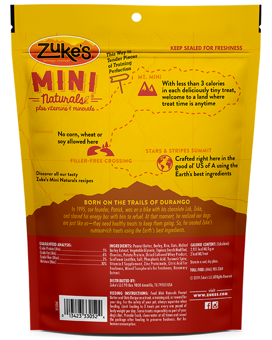 Zuke's Mini Natural Dog Treats Peanut Butter