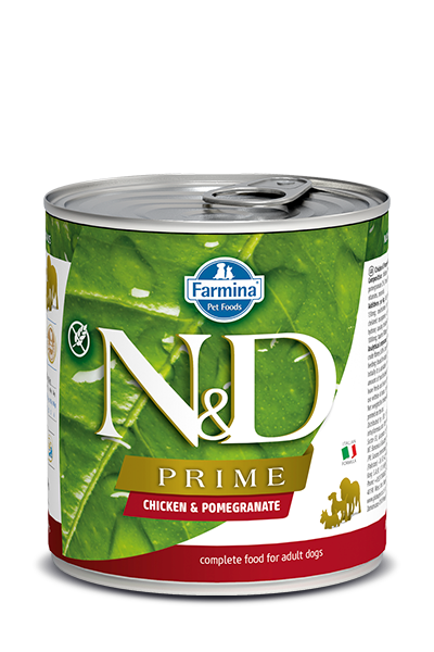 Farmina N&D Prime Grain Free Dog Can Food Chicken & Pomegranate Med/Maxi