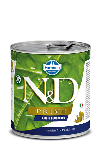 Farmina N&D Prime Grain Free Dog Can Food Lamb & Blueberry Med/Maxi