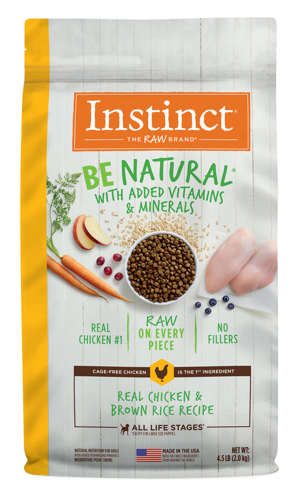 Instinct Be Natural Dog Grains Dry Food Chicken & Brown Rice