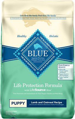 Blue Buffalo Life Protection Dog Grains Dry Food Lamb Puppy, 30lb