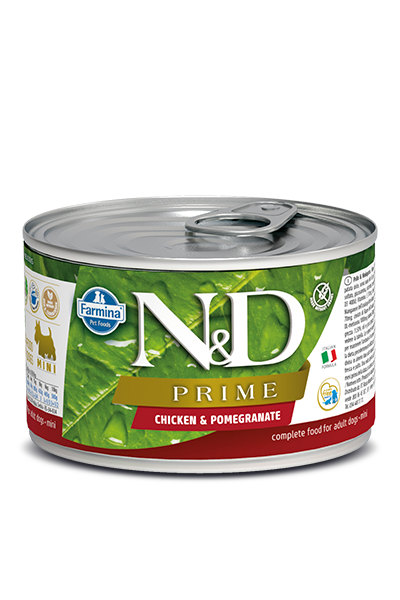 Farmina N&D Prime Grain Free Dog Can Food Chicken & Pomegranate Mini