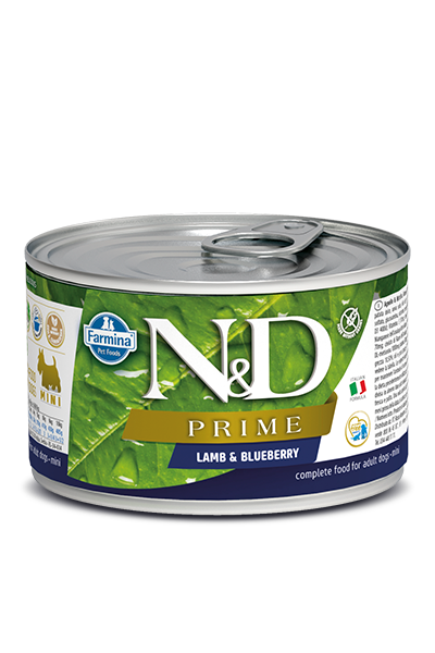 Farmina N&D Prime Grain Free Dog Can Food Lamb & Blueberry Mini