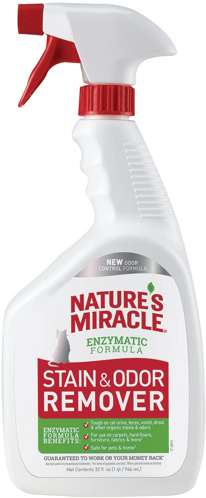 Nature's Miracle Cat Enzymatic Stain & Odor Remover, 32oz