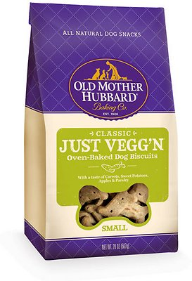 Old Mother Hubbard Classic Crunchy Just Vegg'n Dog Treats, Small, 3lb
