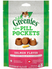 Greenies Pill Pocket Salmon Cat Treats,1.6oz