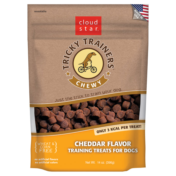 Cloud Star Tricky Trainers Chewy Dog Treats Cheese