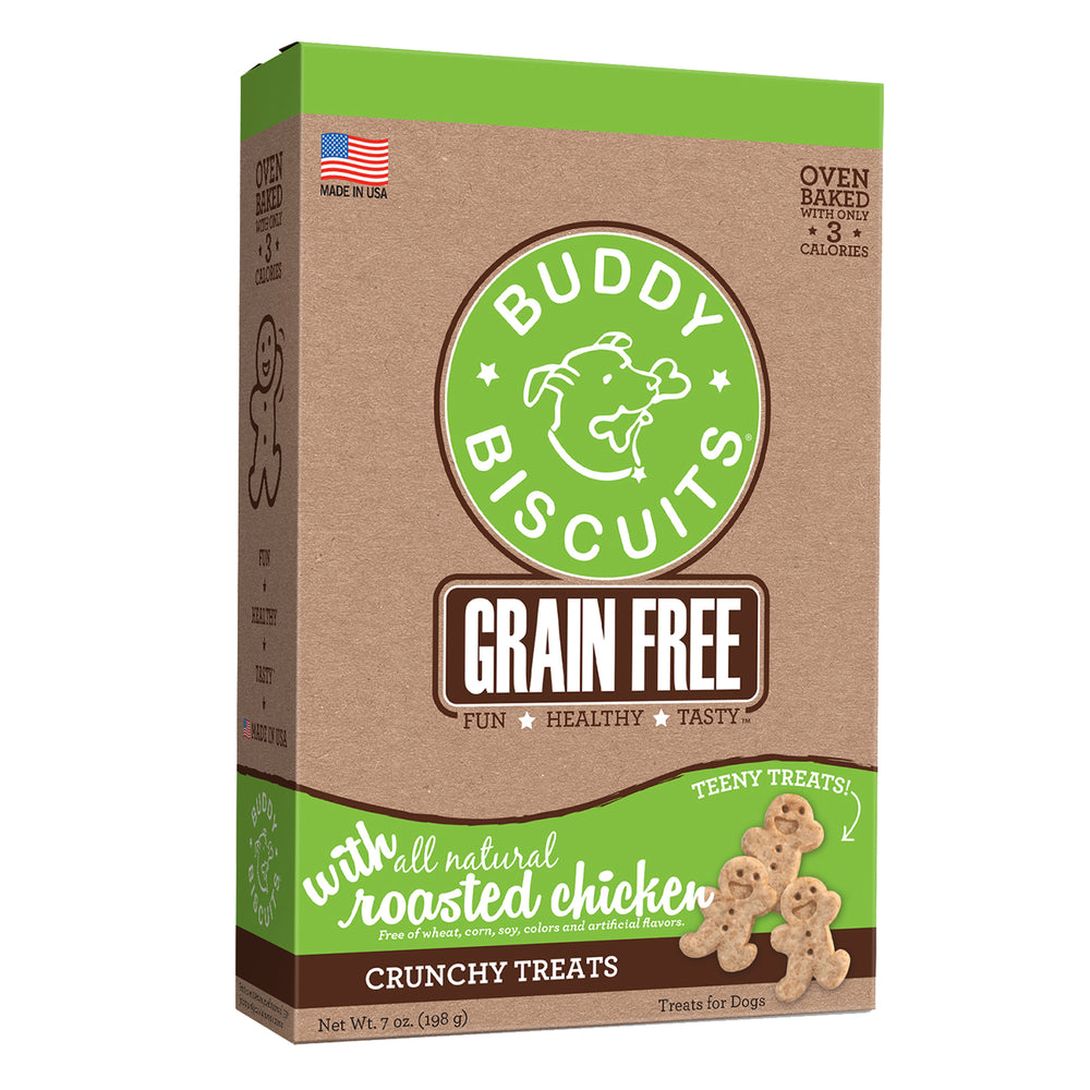 Buddy Biscuit Oven Baked Dog Grain Free Treats Teeny Chicken, 7oz