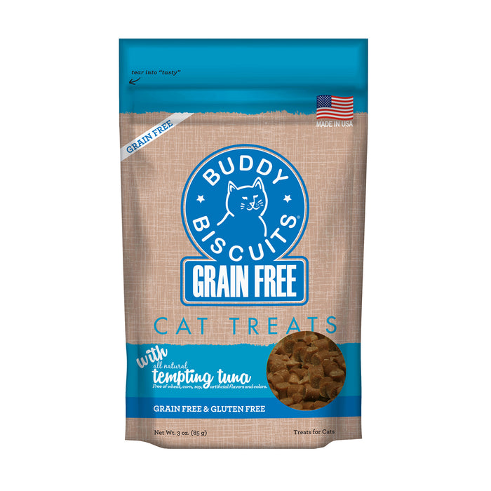 Buddy Biscuit Soft & Chewy Cat Grain Free Treats Tuna, 3oz