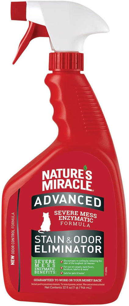 Nature's Miracle Advanced Cat Stain & Odor Remover, 32oz