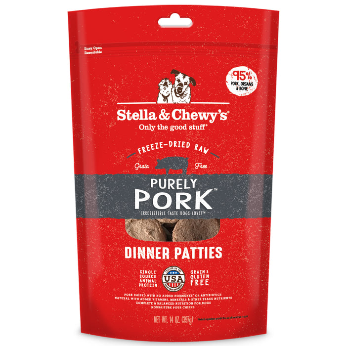 Stella & Chewy's Dog Freeze Dried Food Dinner Patties Purely Pork