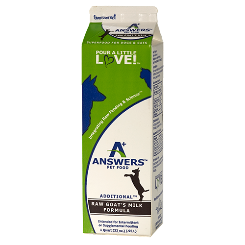 Answers Frozen Raw Fermented Goat Milk