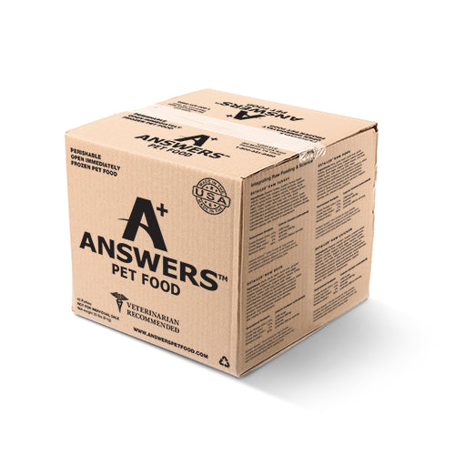 Answers Detailed Dog Frozen Raw Food Bulk Beef Patties, 20lb