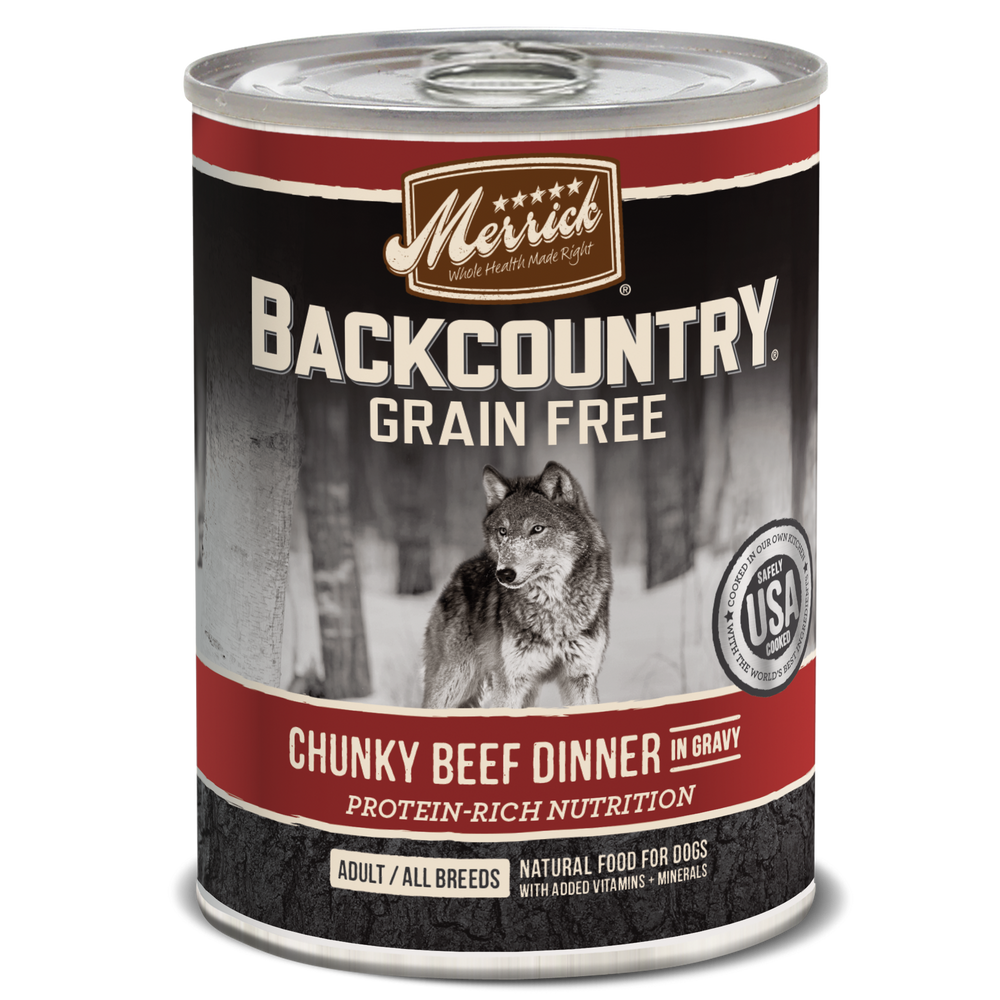 Merrick Backcountry Grain Free Dog Can Food Chunky Beef Dinner