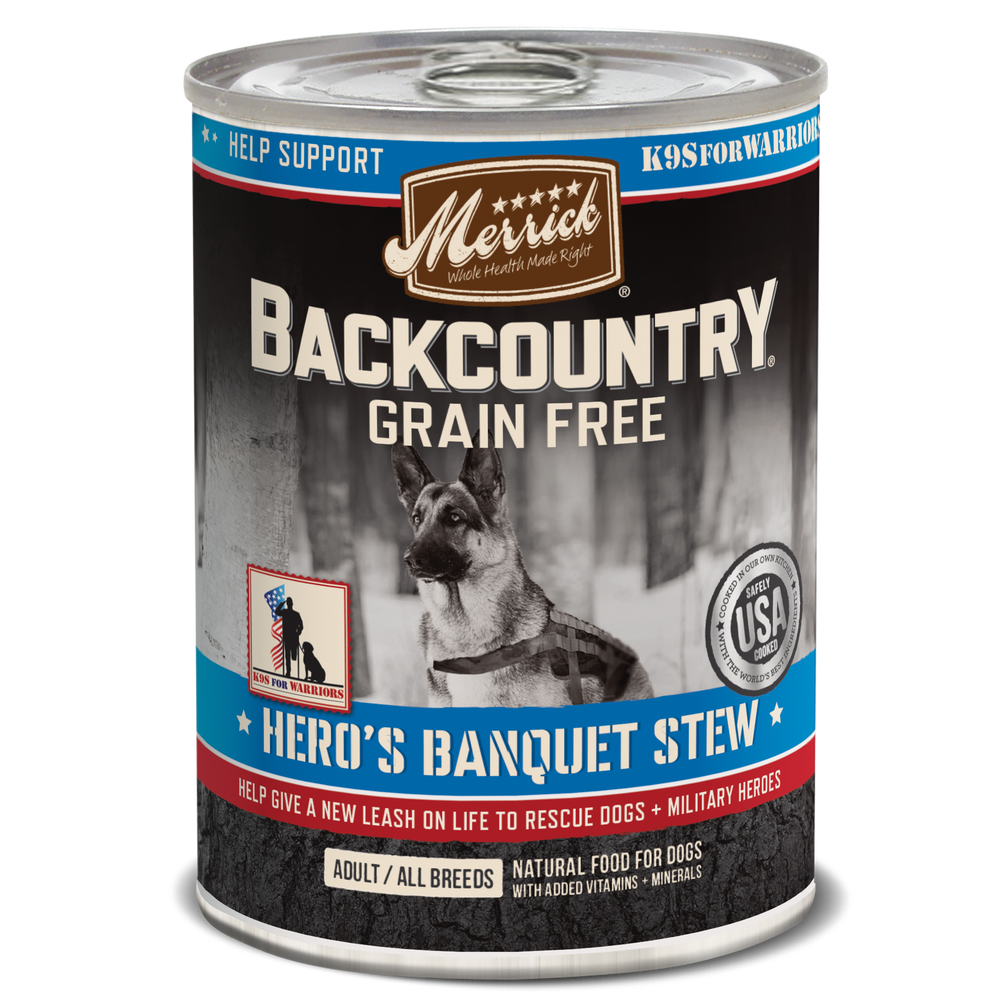 Merrick Backcountry Grain Free Dog Can Food Hero's Banquet
