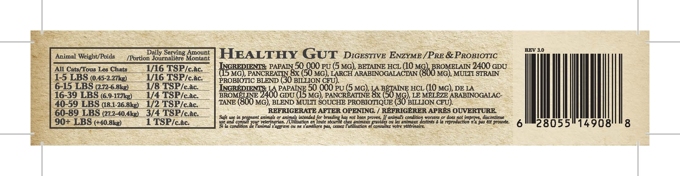 Adored Beast Apothecary Healthy Gut Powder, 1.4oz