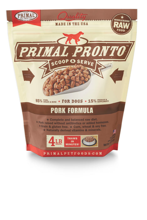 Primal Dog Frozen Raw Food Pronto Bites Pork