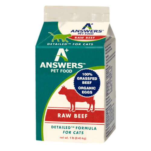 Answers Detailed Cat Frozen Raw Food Beef