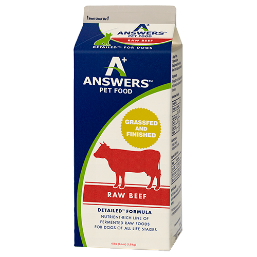 Answers Detailed Dog Frozen Raw Food Carton Beef