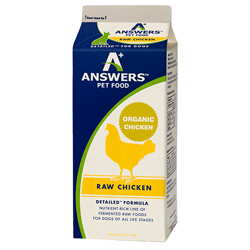 Answers Detailed Dog Frozen Raw Food Carton Chicken