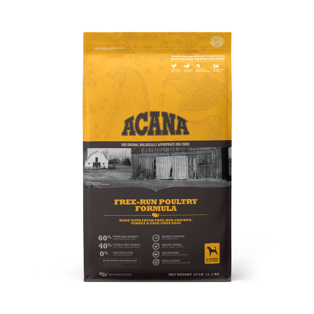 Acana Heritage Grain Free Dog Dry Food Free-Run Poultry