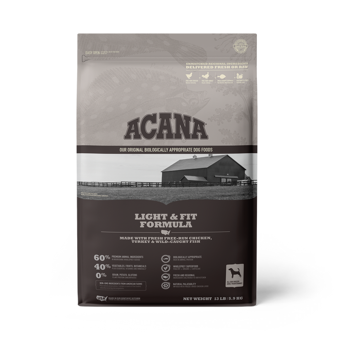 Acana Heritage Grain Free Dog Dry Food Light & Fit
