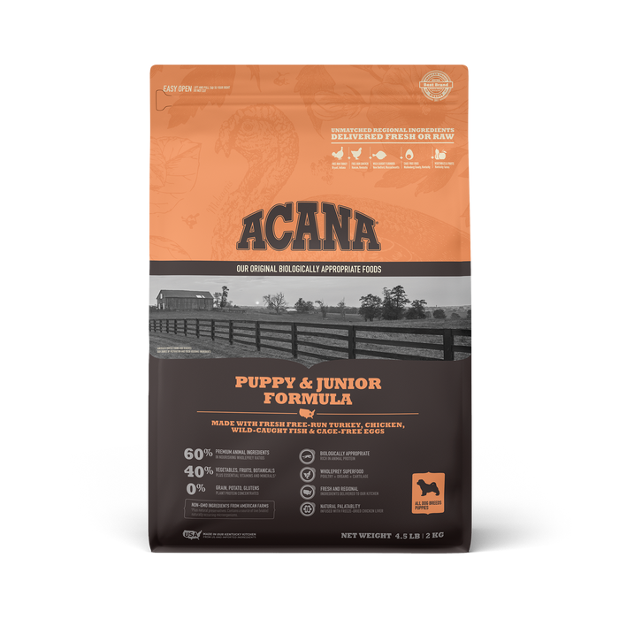 Acana Heritage Grain Free Dog Dry Food Puppy Junior