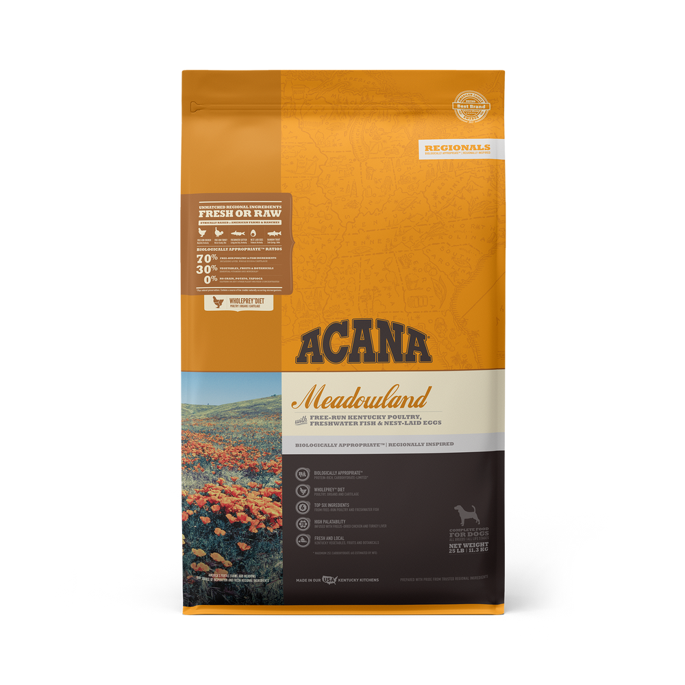 Acana Regionals Grain Free Dog Dry Food Meadowland