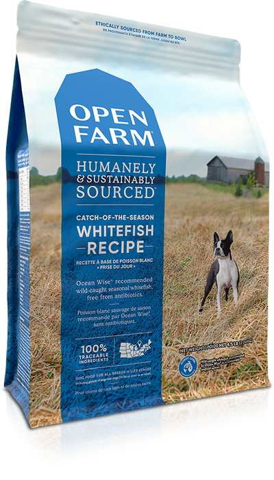 Open Farm Grain Free Dog Dry Food Whitefish & Lentil