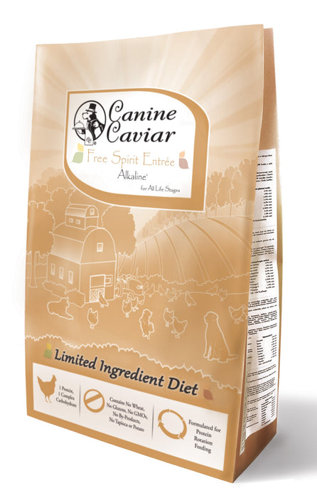 Canine Caviar Dog Grains Dry Food Free Spirit Entree Chicken