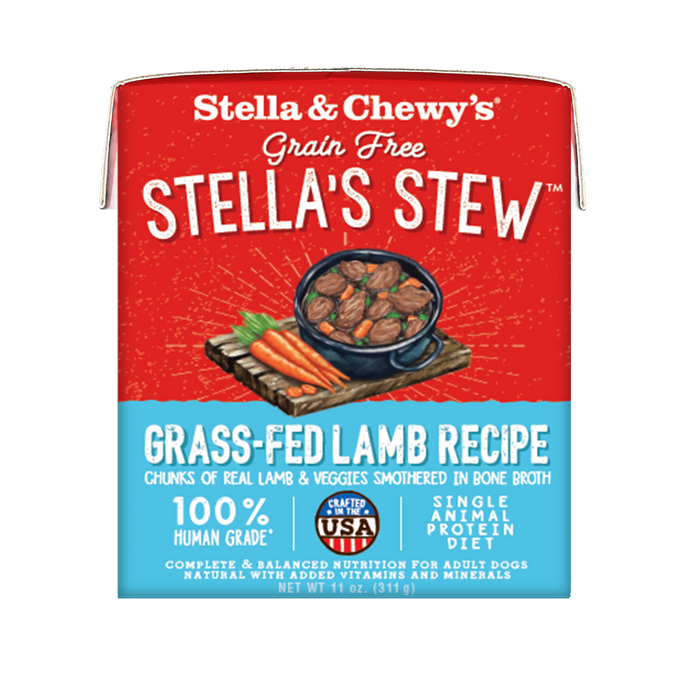 Stella & Chewy's Stew Dog Wet Food Grass-Fed Lamb 11oz Carton, Single