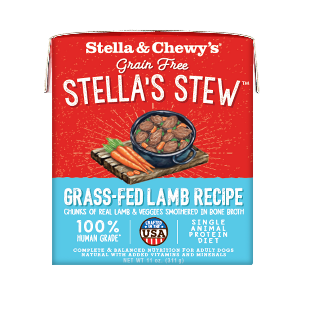 Stella & Chewy's Stew Dog Wet Food Grass-Fed Lamb 11oz Carton, Case of 12