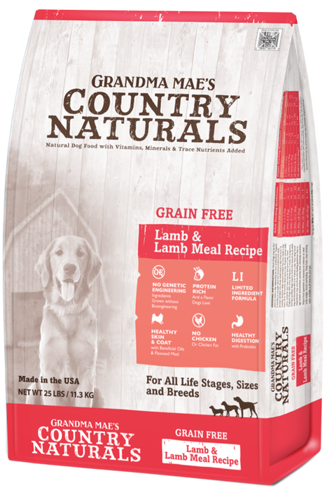 Grandma Mae's Limited Ingredient Dog Grain Free Dry Food Lamb