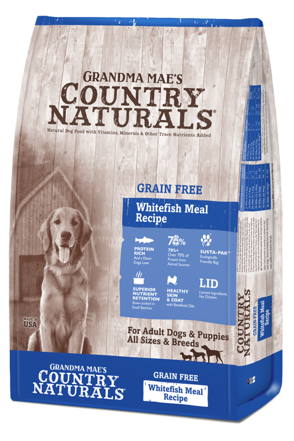 Grandma Mae's Country Naturals Dog Grain Free Dry Food Whitefish