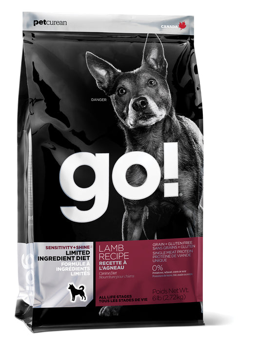 Petcurean GO! Sensitivities Limited Ingredient Grain Free Dog Dry Food Lamb