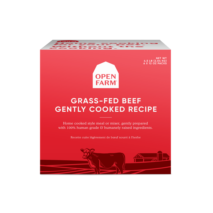 Open Farm Dog Frozen Gently Cooked Food Beef