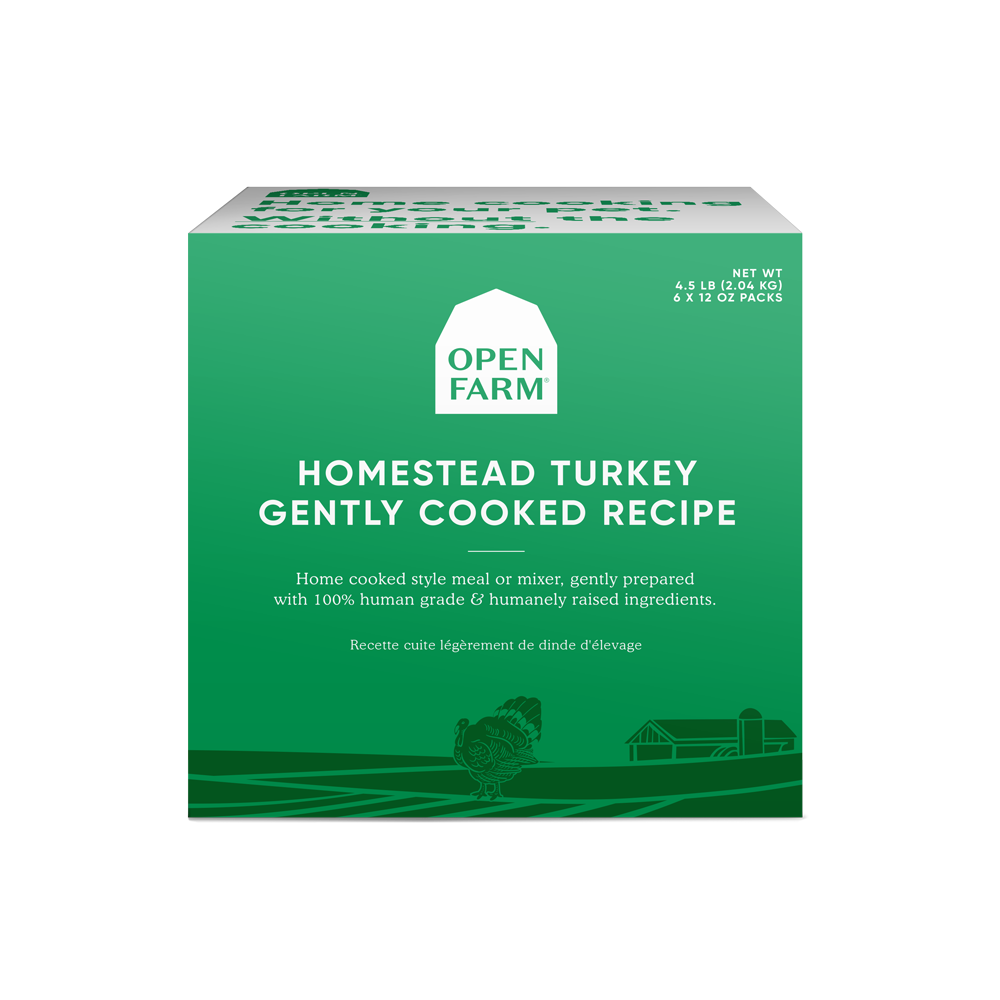 Open Farm Dog Frozen Gently Cooked Food Turkey
