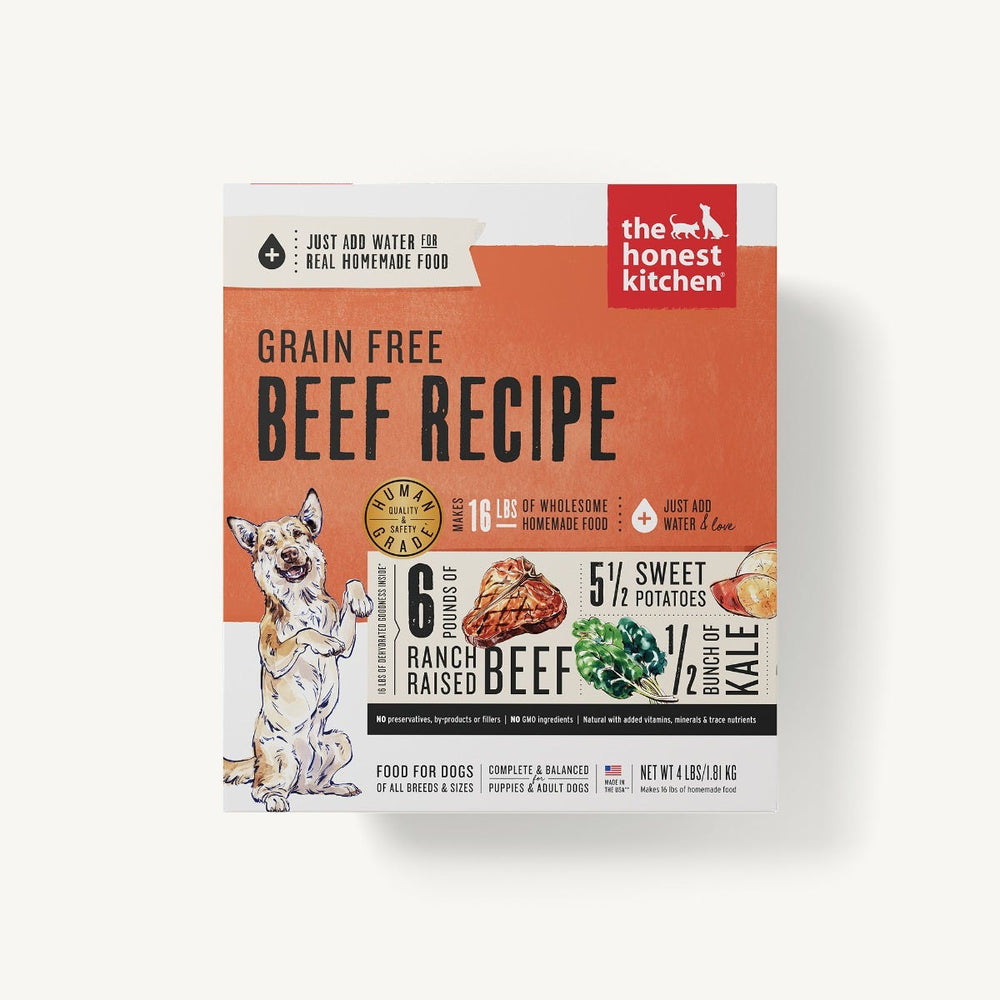 The Honest Kitchen Grain Free Dog Dehydrated Food Beef (Love), 4lb