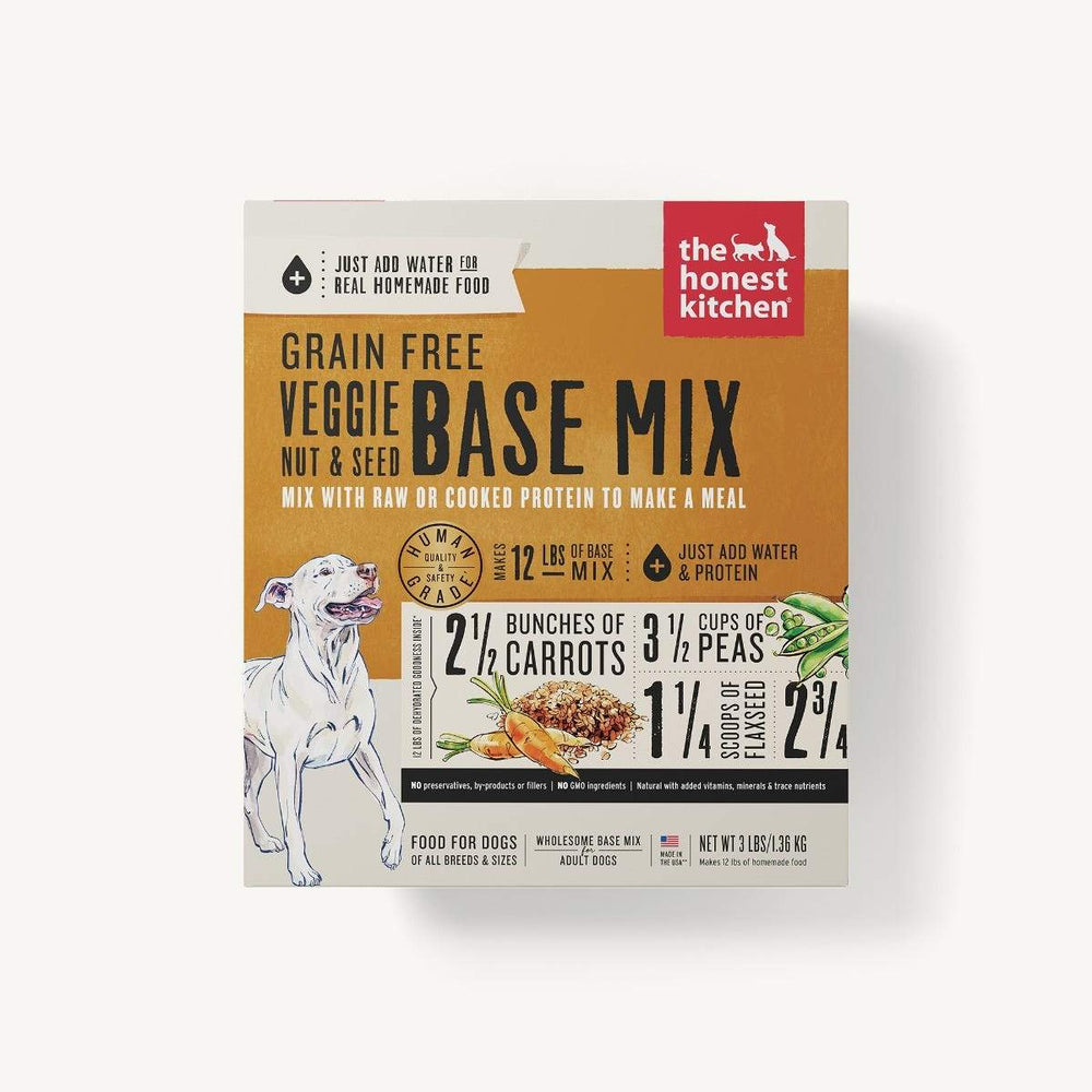 The Honest Kitchen Grain Free Dog Dehydrated Food Base Mix Veggie, Nut, & Seed (Kindly), 3lb