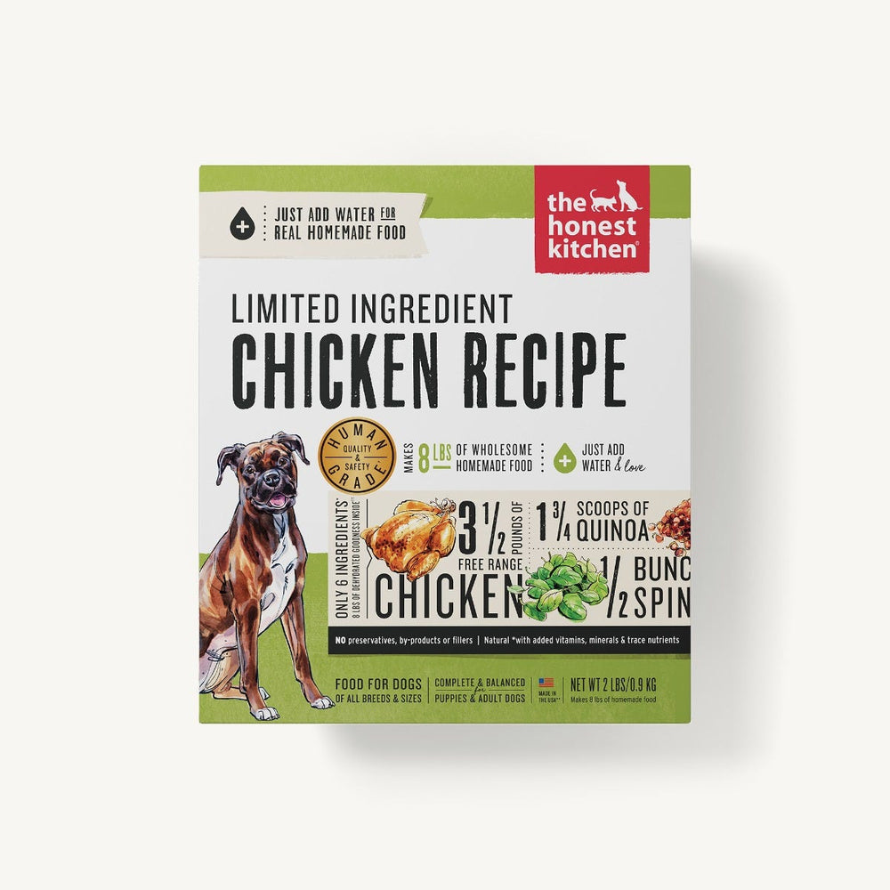 The Honest Kitchen Grains Limited Ingredient Dog Dehydrated Food Chicken (Thrive), 4lb