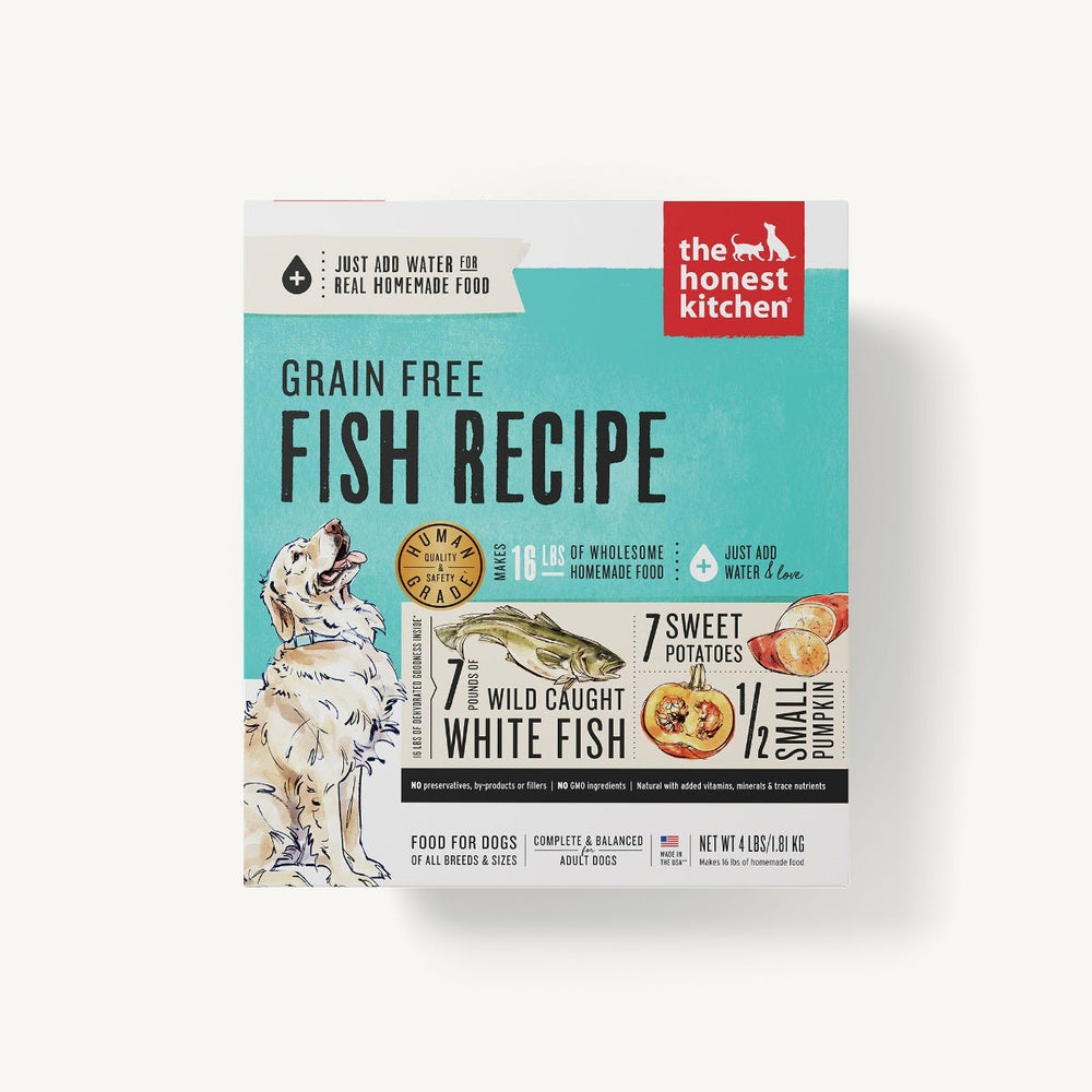The Honest Kitchen Grain Free Dog Dehydrated Food Fish Recipe (Zeal), 4lb