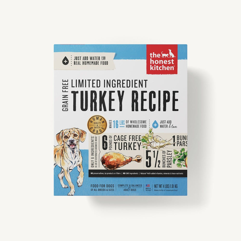 The Honest Kitchen Grain Free Limited Ingredient Dog Dehydrated Food Turkey (Marvel), 4lb