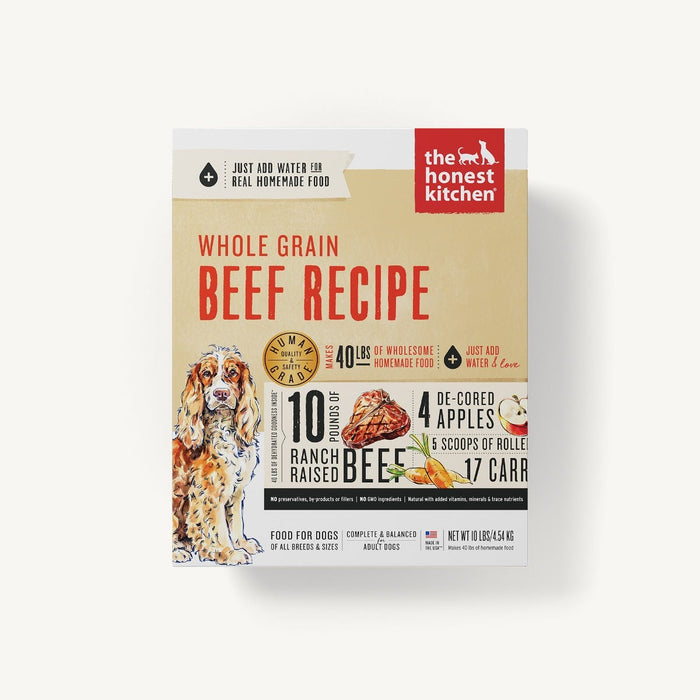 The Honest Kitchen Whole Grains Dog Dehydrated Food Beef (Verve), 10lb