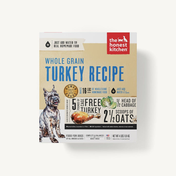 The Honest Kitchen Whole Grains Dog Dehydrated Food Turkey (Keen), 4lb