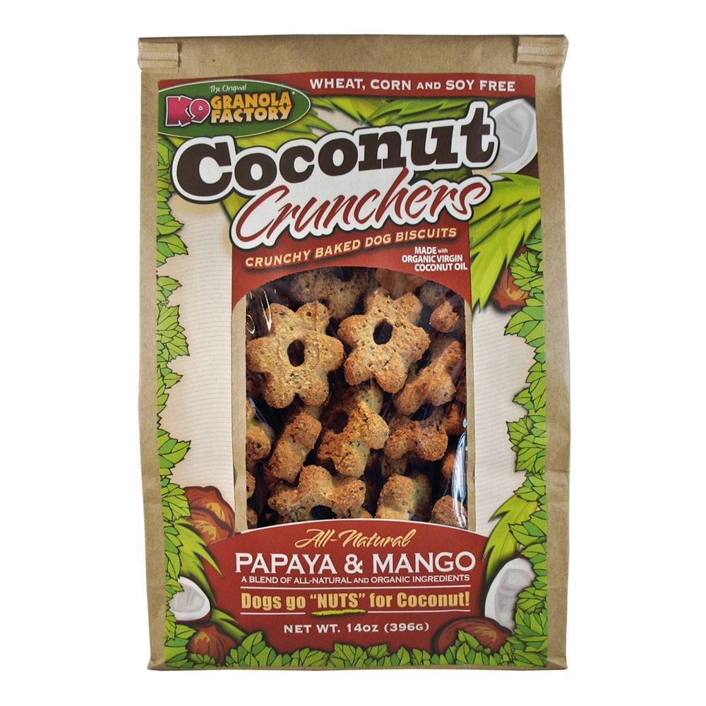 K9 Granola Dog Treats Coconut Crunchers Papaya & Mango