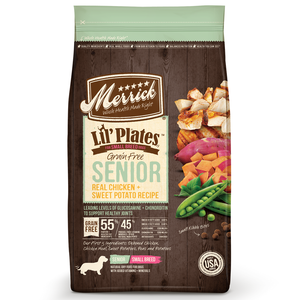 Merrick Lil Plates Small Breed Grain Free Dog Dry Food Senior Chicken & Sweet Potato