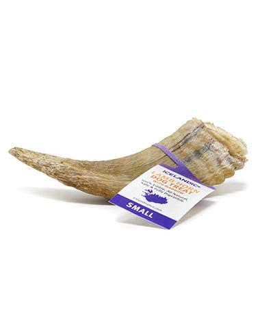 Icelandic Lamb Horn Dog Chew, Small with Marrow